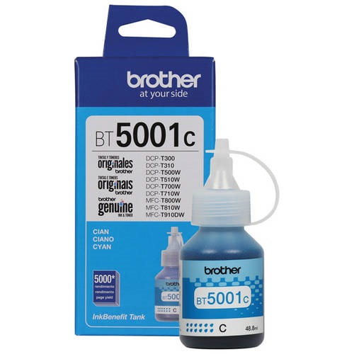 BT5001C BROTHER                                                      | BOTELLA DE TINTA BROTHER BT5001C CYAN P/ DCP-T300 / DCP-T500W / DCP-T310 / DCP-T510W / DCP-T710W